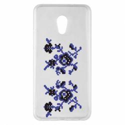 Чехол для Meizu Pro 6 Plus Квітковий орнамент - FatLine