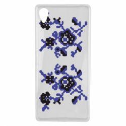 Чехол для Sony Xperia X Квітковий орнамент - FatLine