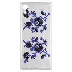 Чехол для Sony Xperia XA1 Квітковий орнамент - FatLine