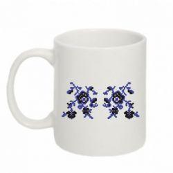 Кружка 320ml Квітковий орнамент - FatLine