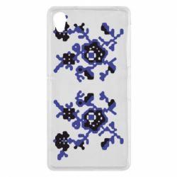 Чехол для Sony Xperia Z2 Квітковий орнамент - FatLine