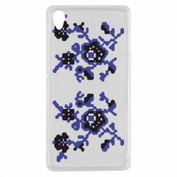 Чехол для Sony Xperia Z3 Квітковий орнамент - FatLine