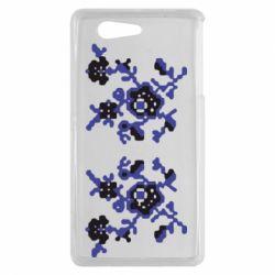Чехол для Sony Xperia Z3 mini Квітковий орнамент - FatLine