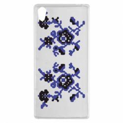 Чехол для Sony Xperia Z5 Квітковий орнамент - FatLine