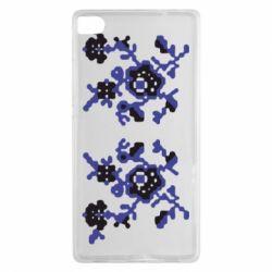 Чехол для Huawei P8 Квітковий орнамент - FatLine