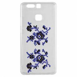 Чехол для Huawei P9 Квітковий орнамент - FatLine