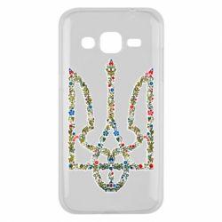 Чехол для Samsung J2 2015 Квітучий герб України