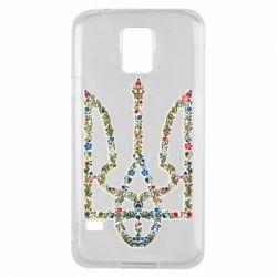 Чехол для Samsung S5 Квітучий герб України
