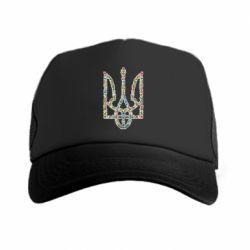 Кепка-тракер Квітучий герб України