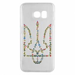Чехол для Samsung S6 EDGE Квітучий герб України