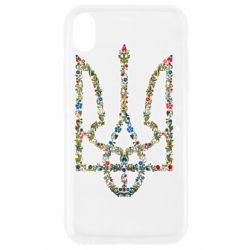 Чехол для iPhone XR Квітучий герб України