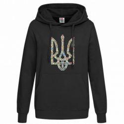 Женская толстовка Квітучий герб України
