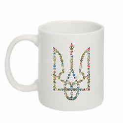 Кружка 320ml Квітучий герб України