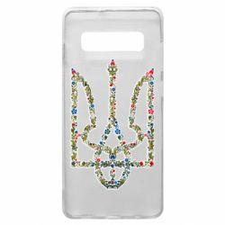 Чехол для Samsung S10+ Квітучий герб України