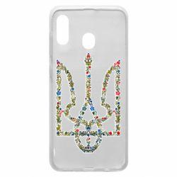 Чехол для Samsung A20 Квітучий герб України