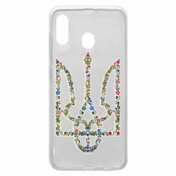Чехол для Samsung A30 Квітучий герб України