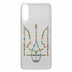 Чехол для Samsung A70 Квітучий герб України