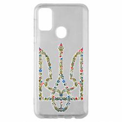 Чехол для Samsung M30s Квітучий герб України