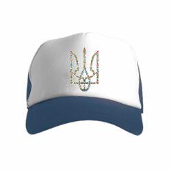 Детская кепка-тракер Квітучий герб України