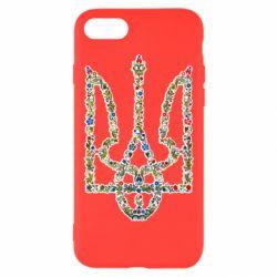 Чехол для iPhone 7 Квітучий герб України