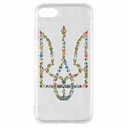 Чехол для iPhone 8 Квітучий герб України