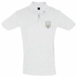 Мужская футболка поло Квітучий герб України