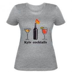 Женская футболка Kyiv Coctails - FatLine