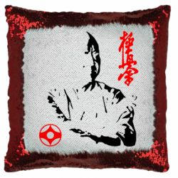 Подушка-хамелеон Kyokushin Kanku logo
