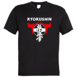 Мужская футболка  с V-образным вырезом Kyokushin - FatLine