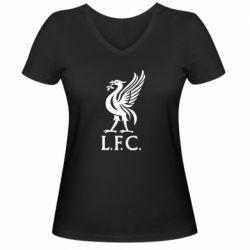Женская футболка с V-образным вырезом L. F. C