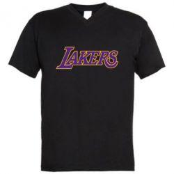 Мужская футболка  с V-образным вырезом LA Lakers - FatLine