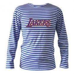 Тельняшка с длинным рукавом LA Lakers - FatLine