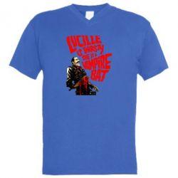 Мужская футболка  с V-образным вырезом Lacille is thirsty she is a vampire bat