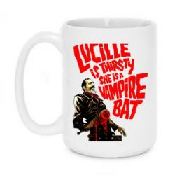 Кружка 420ml Lacille is thirsty she is a vampire bat