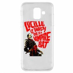 Купить The Walking Dead, Чехол для Samsung A6 2018 Lacille is thirsty she is a vampire bat, FatLine