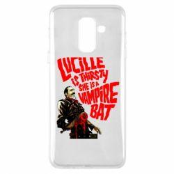 Купить The Walking Dead, Чехол для Samsung A6+ 2018 Lacille is thirsty she is a vampire bat, FatLine