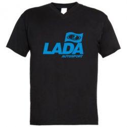 Мужская футболка  с V-образным вырезом Lada Autosport - FatLine