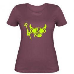 Жіноча футболка Лада чертик