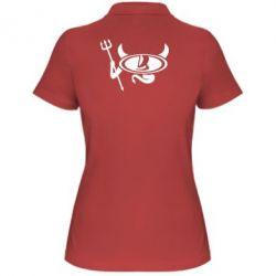 Женская футболка поло Лада чертик
