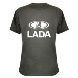 Камуфляжная футболка Lada logo