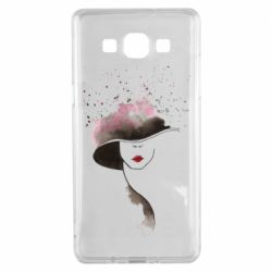 Чехол для Samsung A5 2015 Lady in a hat