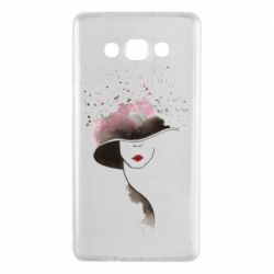 Чехол для Samsung A7 2015 Lady in a hat