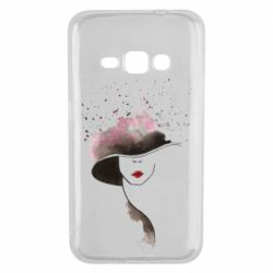 Чехол для Samsung J1 2016 Lady in a hat