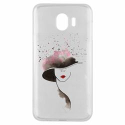 Чехол для Samsung J4 Lady in a hat
