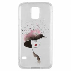 Чехол для Samsung S5 Lady in a hat