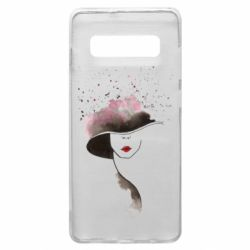 Чехол для Samsung S10+ Lady in a hat