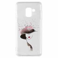 Чехол для Samsung A8 2018 Lady in a hat