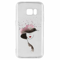 Чехол для Samsung S7 Lady in a hat