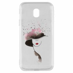 Чехол для Samsung J3 2017 Lady in a hat