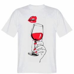 Чоловіча футболка Lady is drinking
